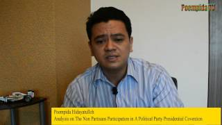 Poempida: Analysis on The Non Partisans Participation in A Political Party Presidential Covention